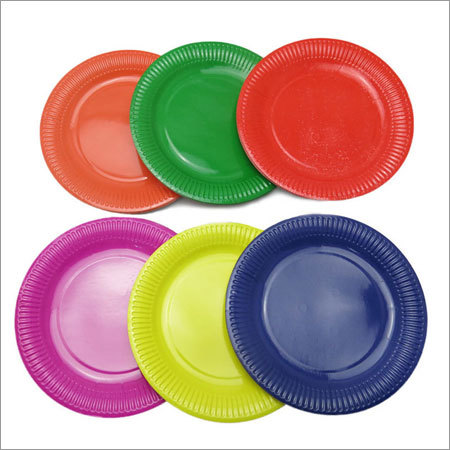 Colorful Round Paper Plate