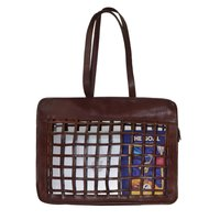 Women Leather See Through Shopping Bag