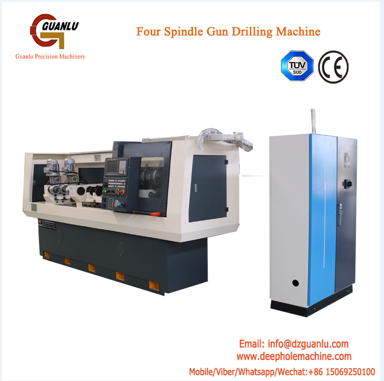 Gun drilling machine for medical parts