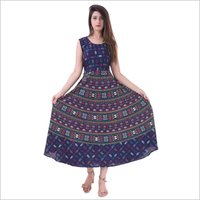 Jaipuri printed midi long dress