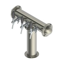 T Style Tower with 3 Flow Control Taps - Brushed Stainless - Glycol Recirculation Loop+
