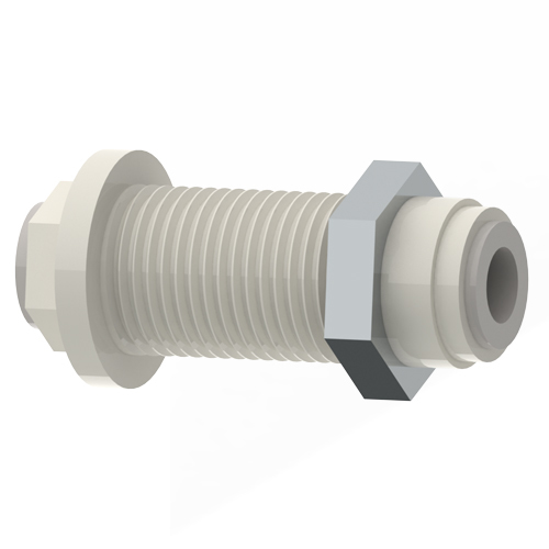 "3/8"" Bulkhead Connector - JG Fitting"