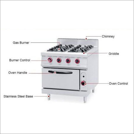 Four Burner Oven Cooking Rang