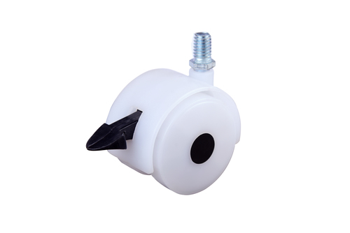 Twin Wheel Castor white