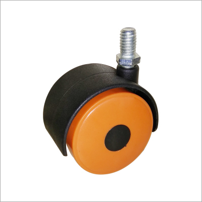 Twin Wheel Castor Thread Orange WithBlack