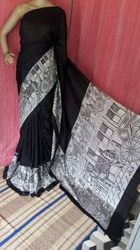 Exclusive Black Silk Saree
