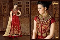 Silk gown anarkali suits