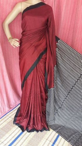 Ladies Silk Block Print Sarees