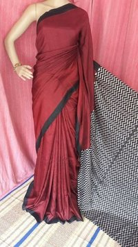 Exclusive Party Wear Silk Block Print Saree