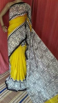 Exclusive Yellow Silk Saree