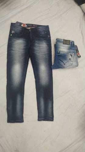 Mens Washed Designer Jeans