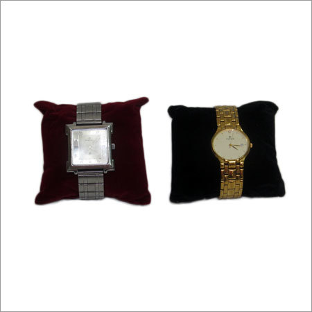 Suade Velvet Pillow  Watch Display