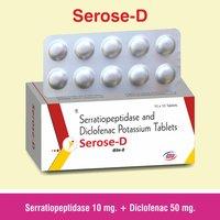 Serratiopeptidase + Paracetamol + Diclofenac