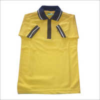 Yellow Color Polo School T-Shirt