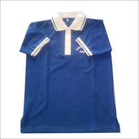 Blue Color School Collared T-Shirt