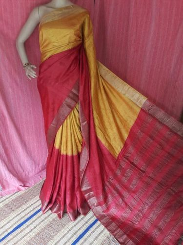Exclusive Tassar and Zari Border Tassar Saree