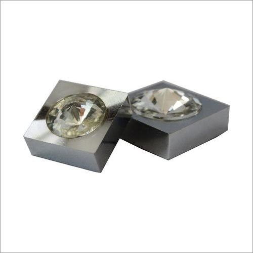 Square Crystal Mirror Cap