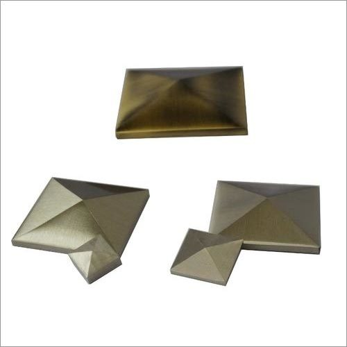 Pyramid Brass Mirror Cap