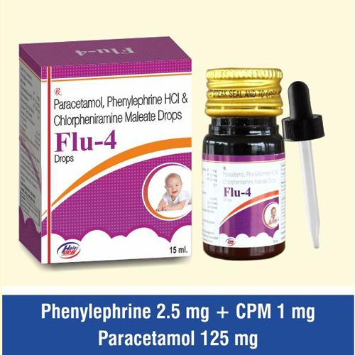 Paracetamol + Phenylephrine + C.P.M + Bromhexine + Menthol