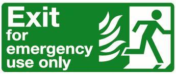 EMERGENCY EXIT SIGNAGES