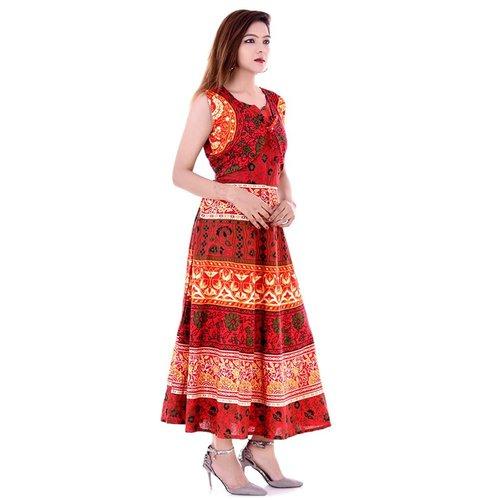 Ladies Jaipuri Printed Dress