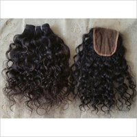 Natural Curly And Lace Closure 4x4 Swiss Transparent Lace