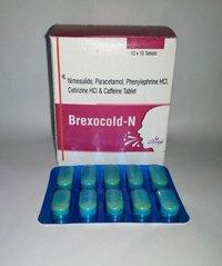 Nimesulide, Paracetamol, Phenylephrine HCI, Cetirizine HCI & Caffeine Tablets