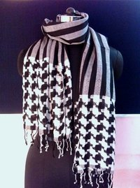 Black & White Dobby Scarf