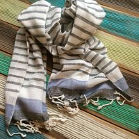 man's strips scarf