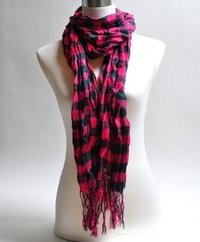 Check viscose scarf