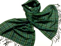 Green yarn dyed scarves
