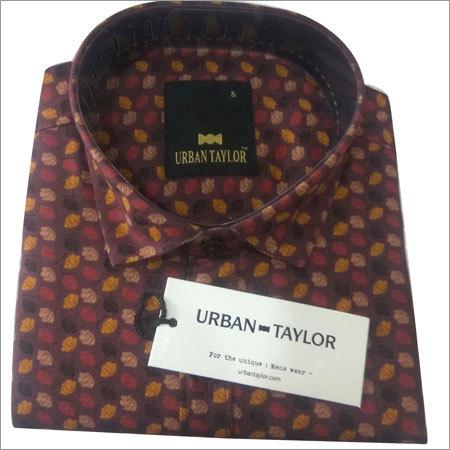 Mens Semi Casual Printed Shirt