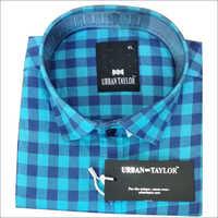 Men's Blue Semi Casual Checks Shirt