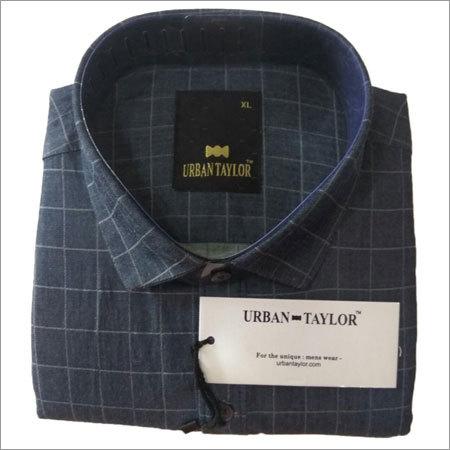 Men's Black Semi Casual Checks Shirt