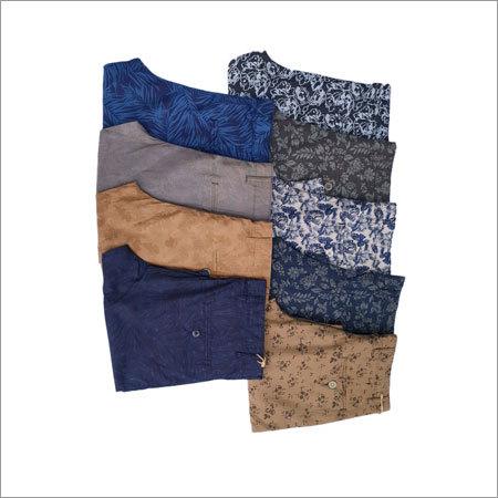 Mens Printed Cotton Shorts