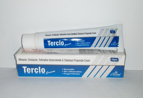 Ofloxacin, Ornidazole, Terbinafine Hydrochloride & Clobetasol Propionate Cream
