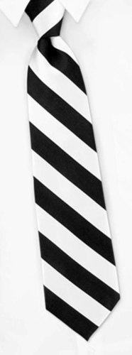 Black and White striped tie