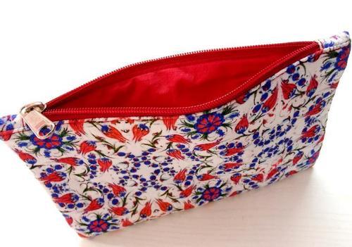 Designer cotton pouch