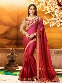 Pink Silk Multi Wedding & Bridal Wholesale Designer Saree