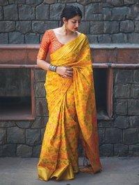 Yellow Silk Zari Wholesale Designer Saree