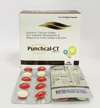 Calcitriol 0.25mcg,Calcium Citrate 425 mg,Zinc 20mg,Magnesium Oxide 40 mg softgel capsules