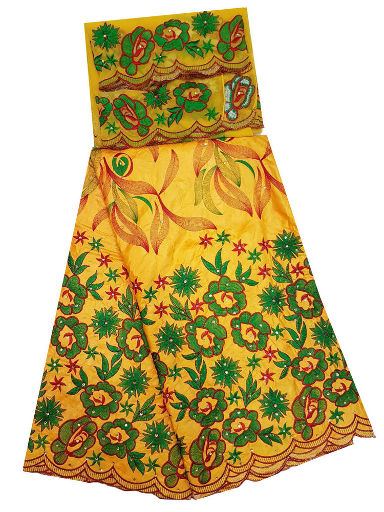 Bazin Embroidery Dress