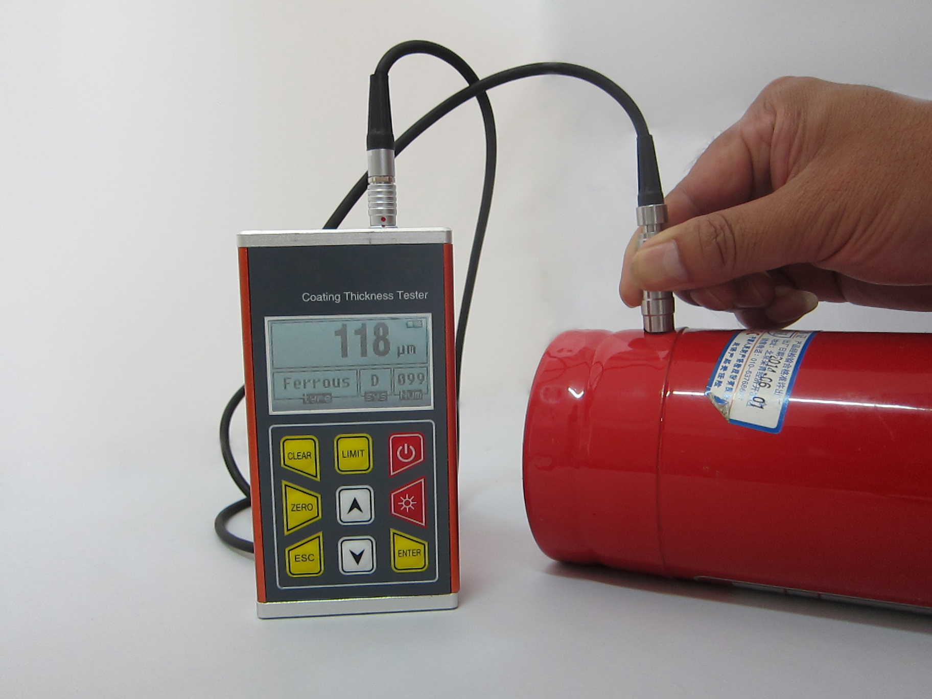 Digital Car Paint Thickness Gauge , Coating Thickness Measuring Equipment