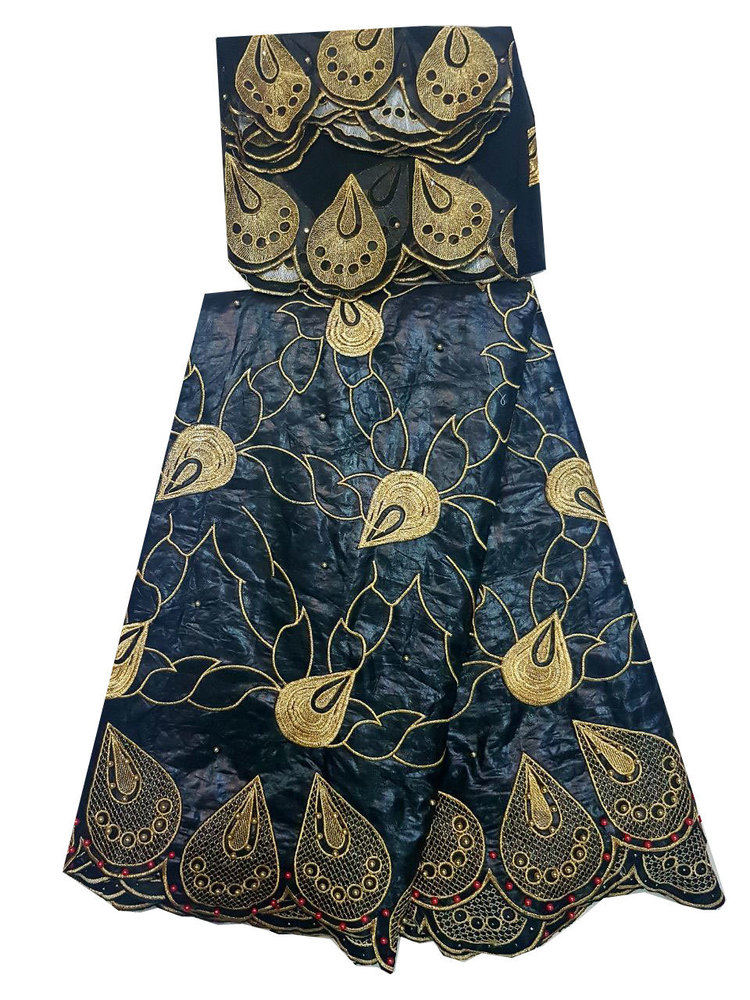 African Bazin Embroidery