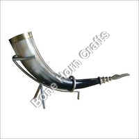 Drinking Horn with Metal Stand