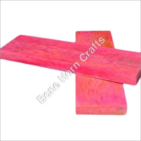 Pink Color Bone Knife Handle