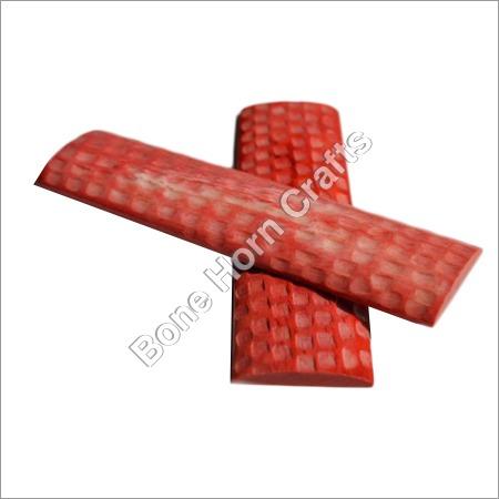 Red Color Bone Knife Handle