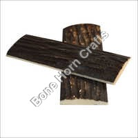 Dyed Stabilized Jigged Brown Color Bone Knife Handle