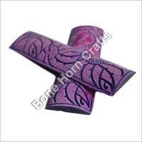 Dyed Stabilized Purple Color With Design Bone Radius Scales