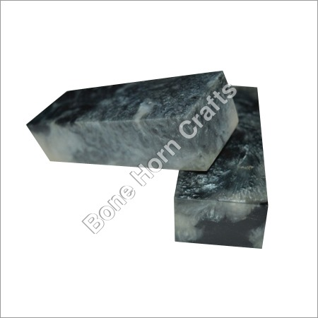 Epoxy Resin (Acrylic) Black Color Knife Handle Blocks